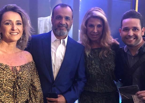 Andrea Maier, diretora da Rádio 93FM; Marcelo Silva, vice-presidente da Record; Cristina Xisto, vice-presidente do Grupo MK e pastor Lucas