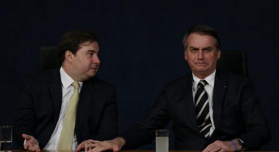 Presidente da Câmara, Rodrigo Maia e presidente Jair Bolsonaro