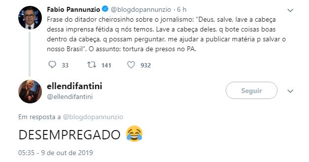 Jornalista critica Bolsonaro e é alvo de críticas em rede social