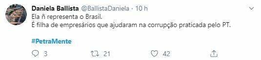 Internautas repudiaram ataques da cineasta a Bolsonaro