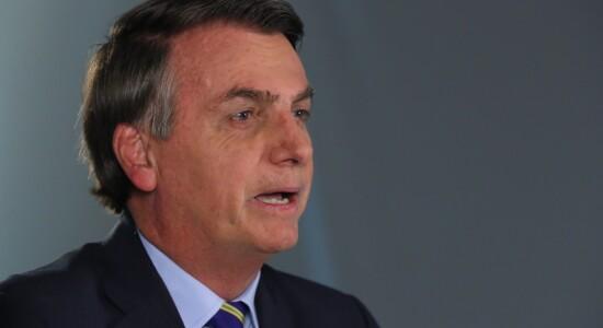 Presidente Jair Bolsonaro durante pronunciamento